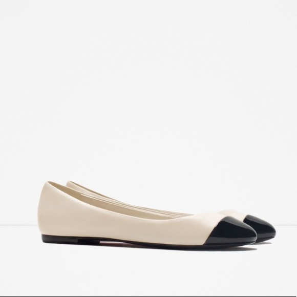 b6f7307d11 Zara Shoes   Cap Toe Ballerina Flats   Poshmark